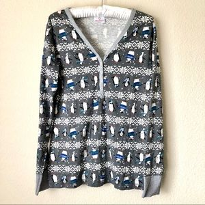 Hanna Andersson Penguin Pajama Top Size Large